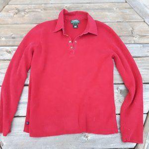 Red Ralph Lauren Long Sleeve Top Large